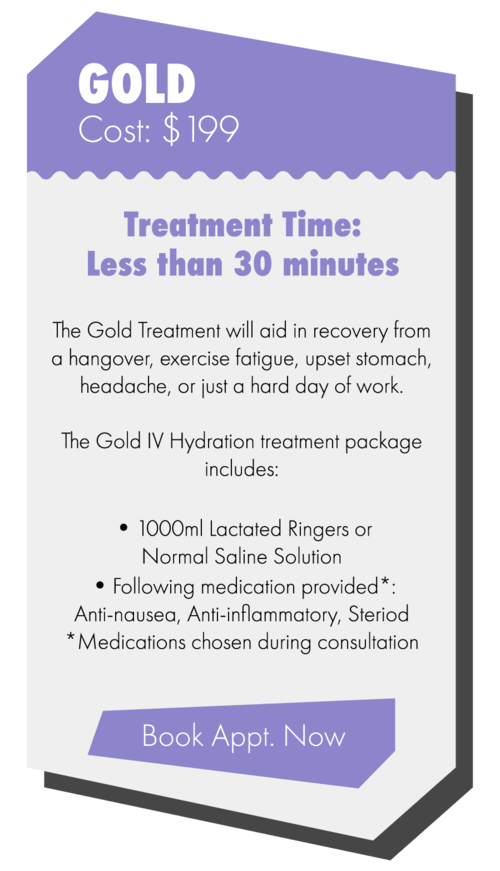IV Vitamin Therapy Gold package